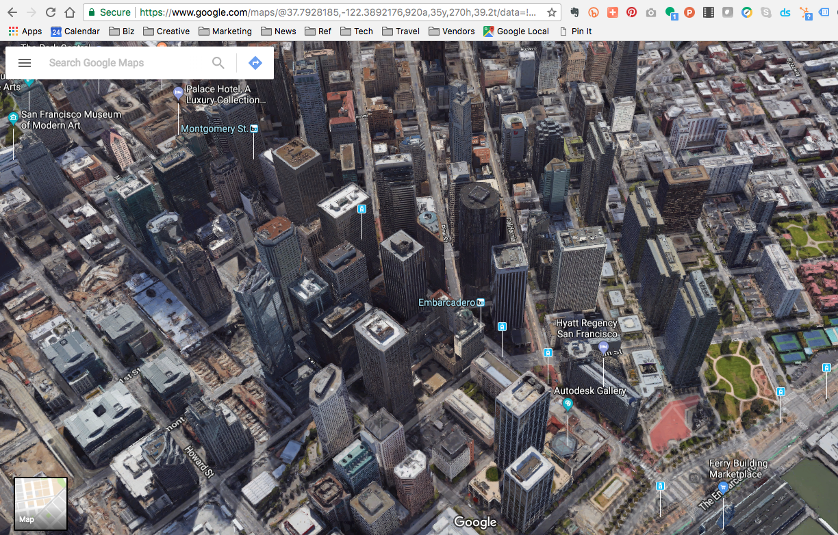 SF 3D Google map | The Space Place